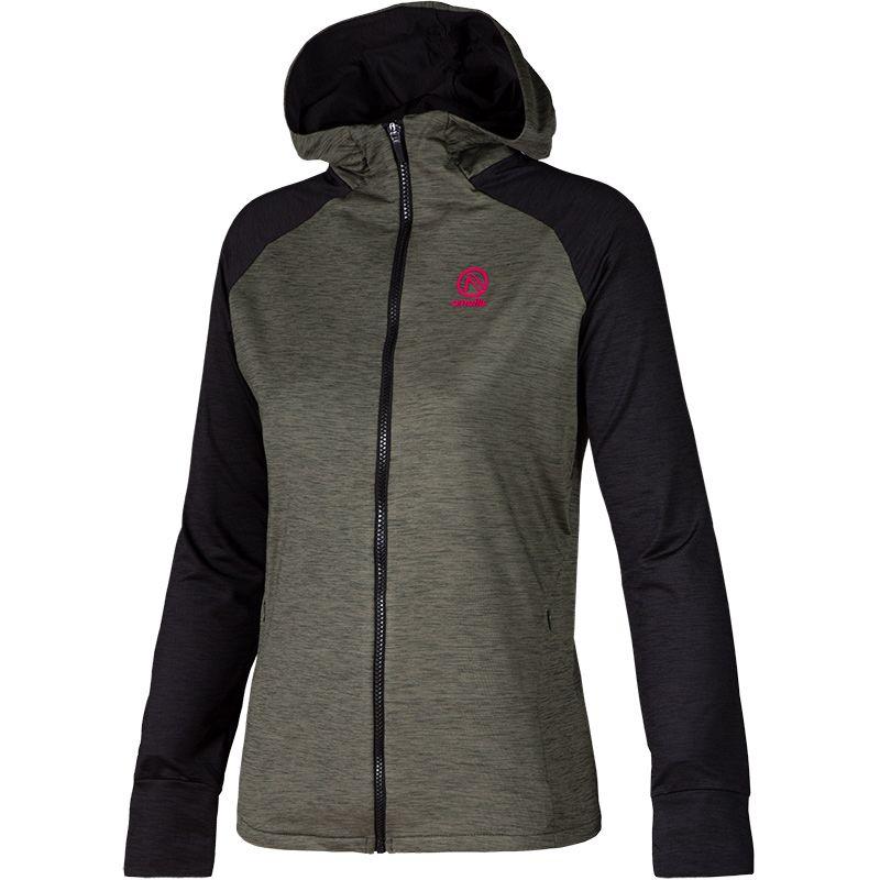 Women's Savannah Fleece Full Zip Hoodie Khaki / Black / Pink