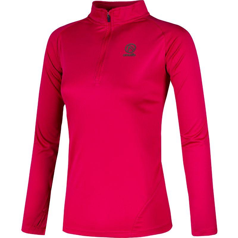 Women's Savannah Midlayer Half Zip Top Pink / Khaki