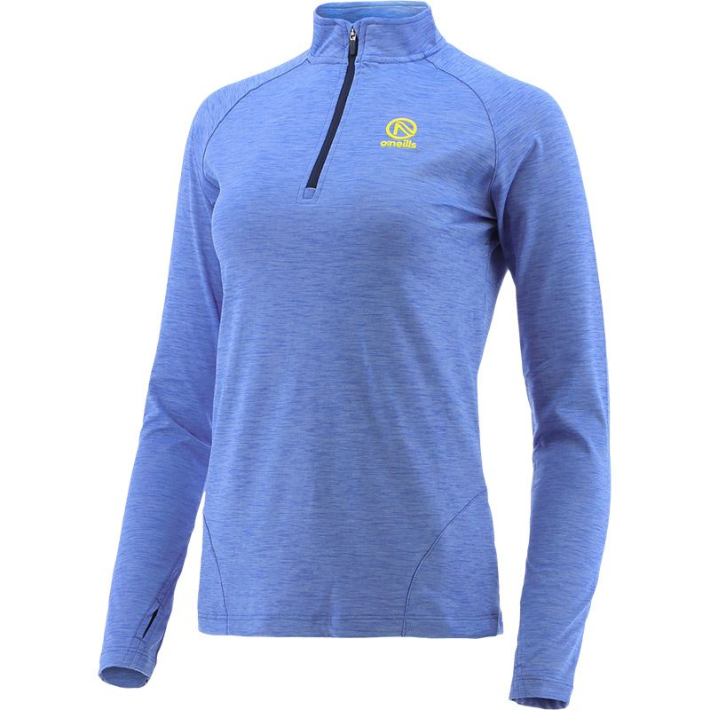 Women's Savannah Brushed Half Zip Top  Blue / Marine / Yellow