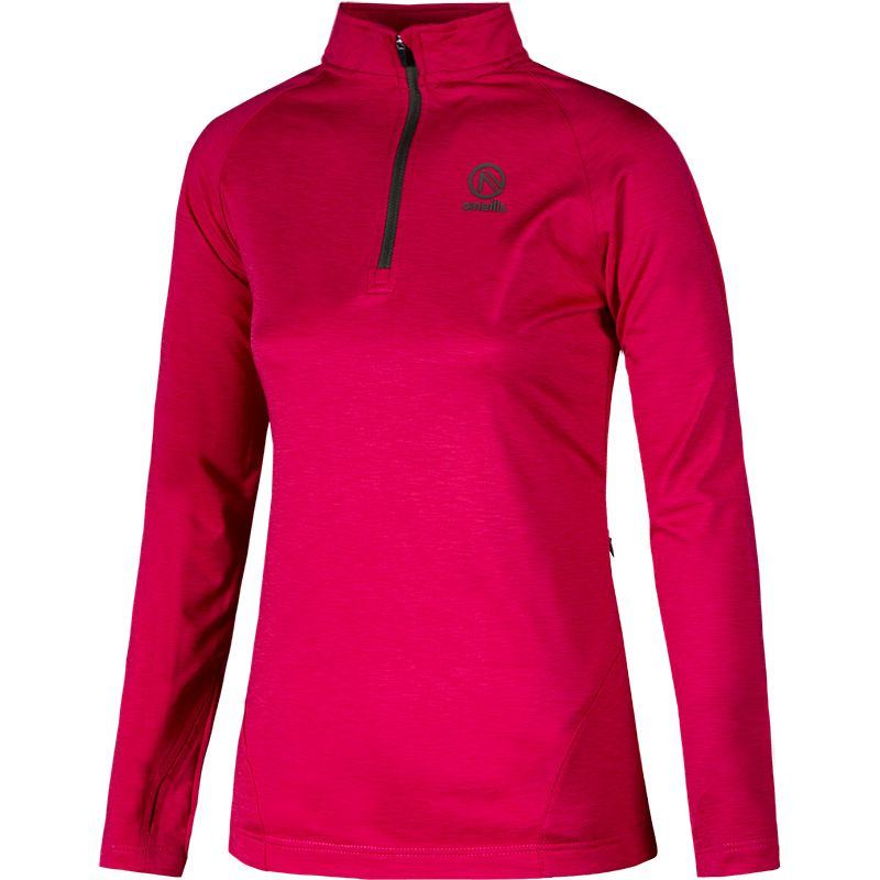 Women's Savannah Brushed Half Zip Top Pink / Black / Khaki