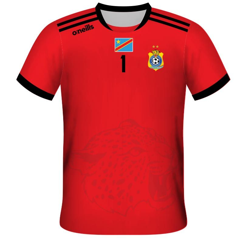 Democratic Republic of Congo Kids' Away Goalkeeper Replica Jersey (Red)