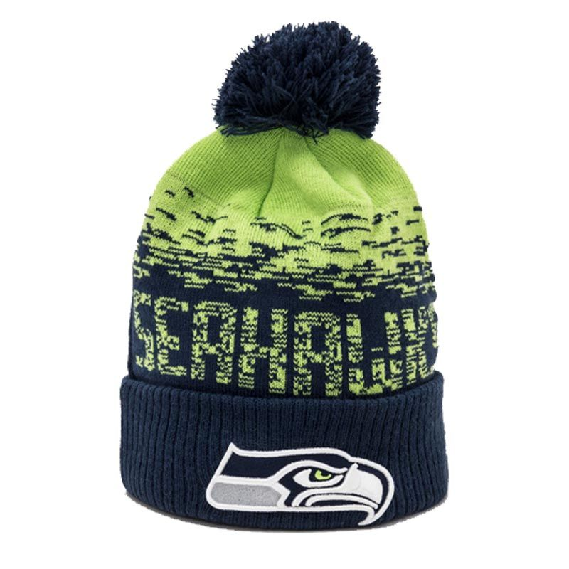 New Era NFL Seattle Seahawks Knit Bobble Hat