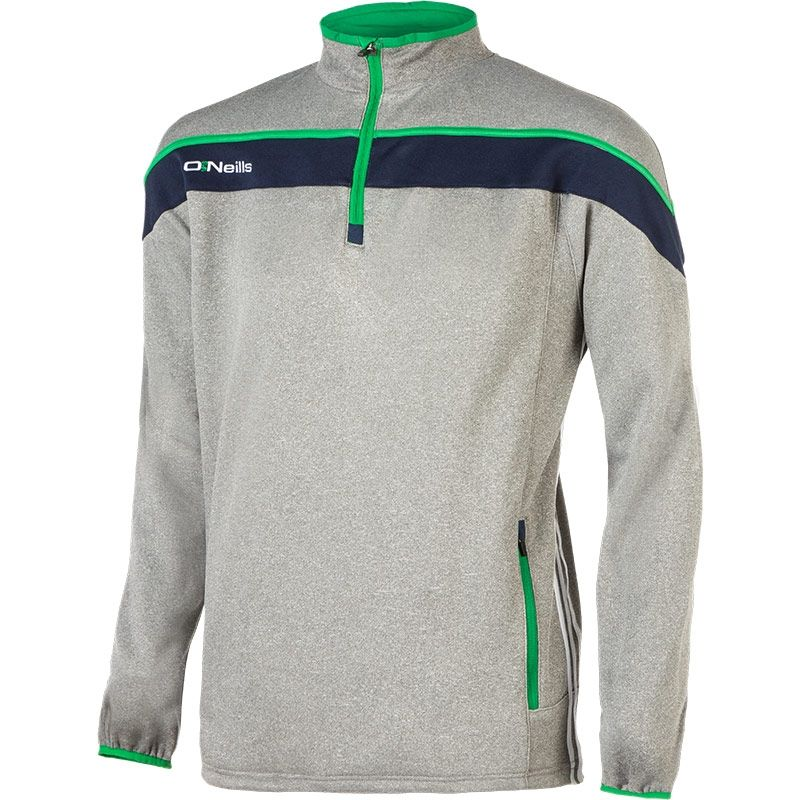 Slaney 2S Half Zip Proformance Top (Marl Grey/Marine/Emerald/White)