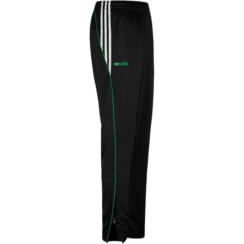 Kids' Solar 3 Stripe Brushed Skinny Bottoms Black / Green / White