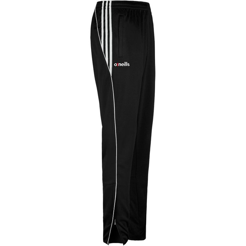 Kids' Solar 3 Stripe Brushed Skinny Bottoms Black / White