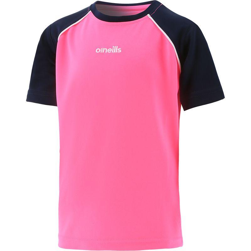 Kids' Sophia Poly Micro T-Shirt Pink / Marine / White