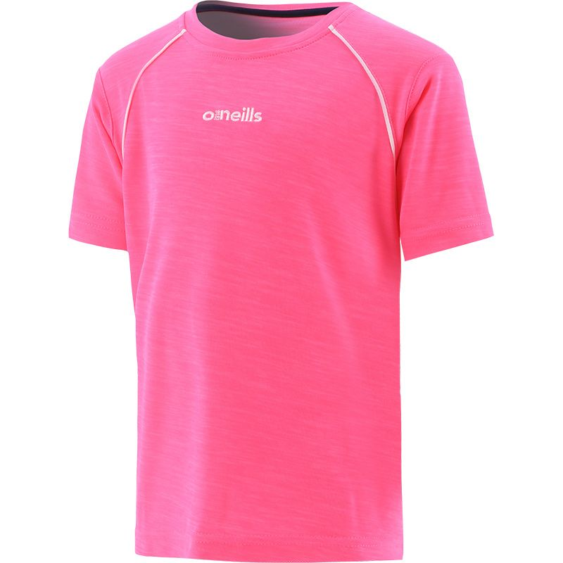 Kids' Sophia Poly Micro T-Shirt Pink / White
