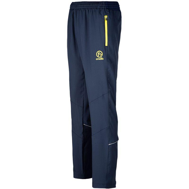 Men's Spartan Woven Track Pants Marine / Marine Ripple / Yellow Short Leg