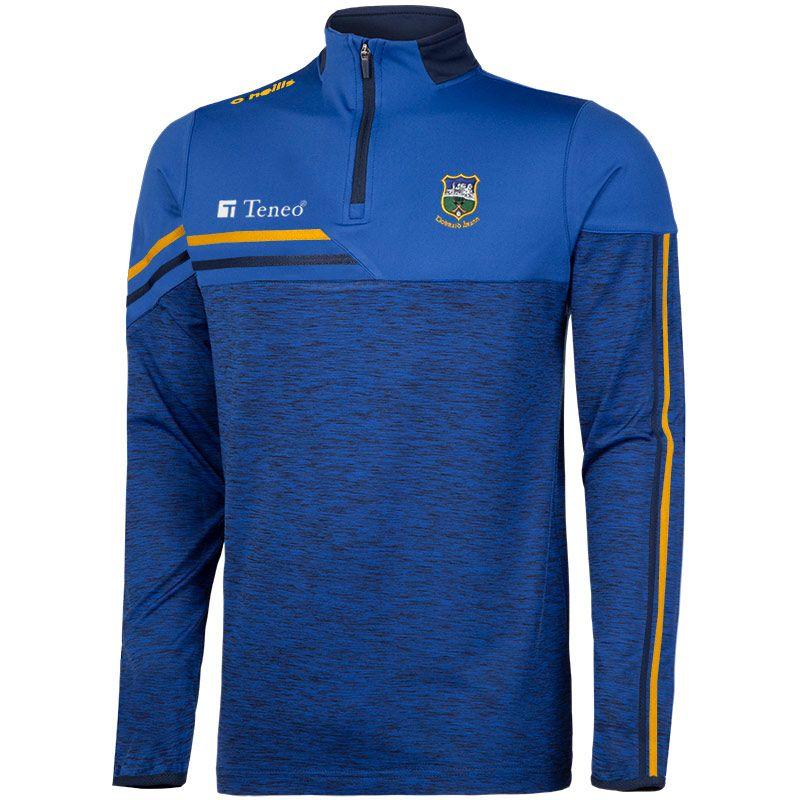 Tipperary GAA Men's Nevis Brushed Midlayer Half Zip Top Blue / Yellow