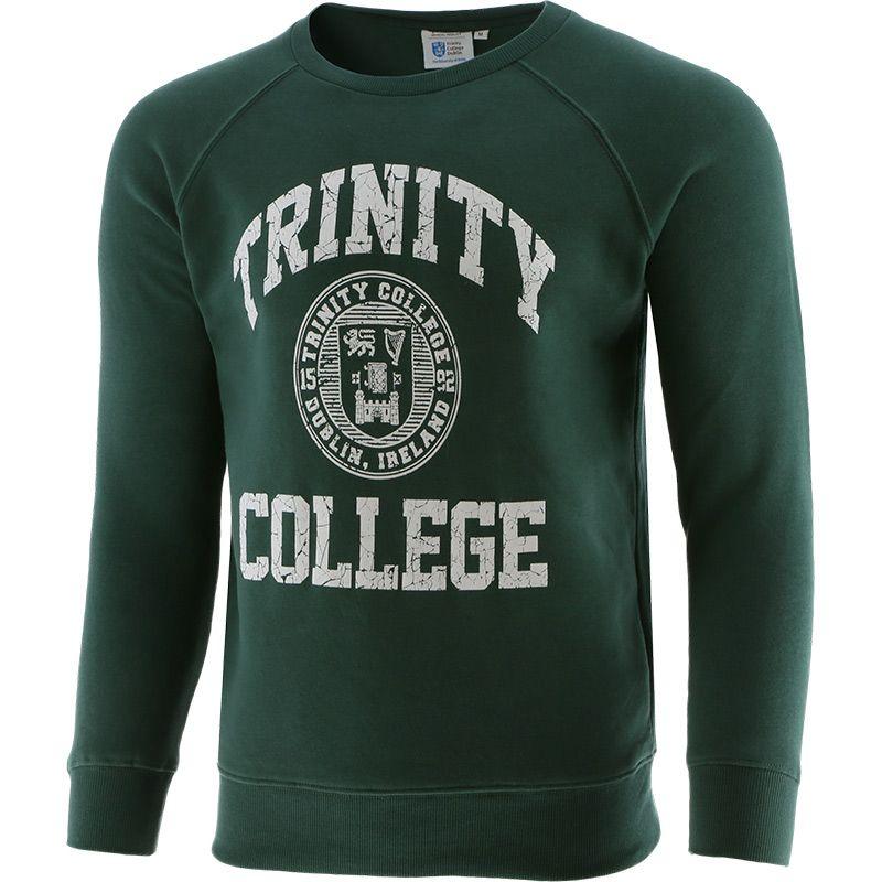 Trinity College Crest Sweatshirt Bottle / White