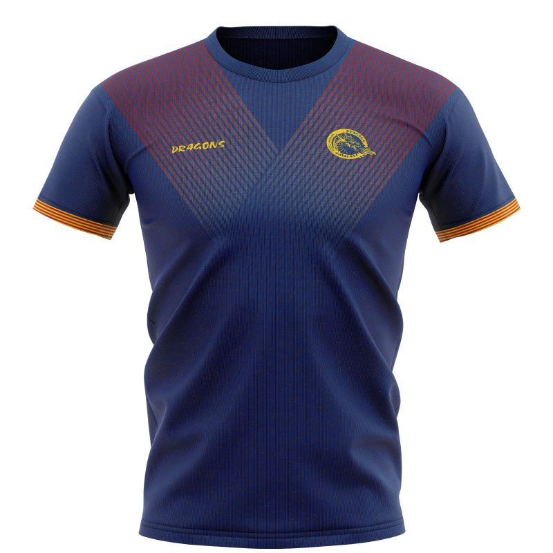 Catalans Dragons Rugby Tee (Navy/Maroon/Amber) Kids