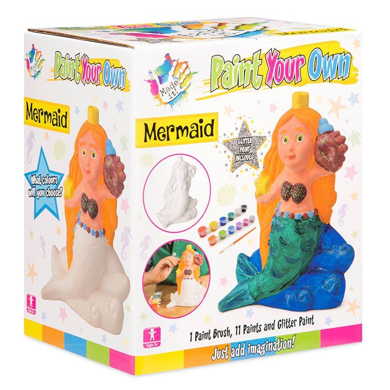 Made it! Paint Your Own Mermaid