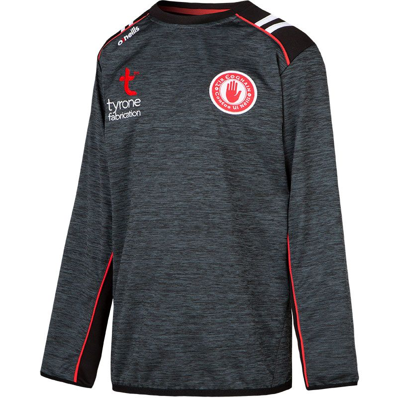 Tyrone GAA Kids' Manor Sweatshirt Black / Red / White