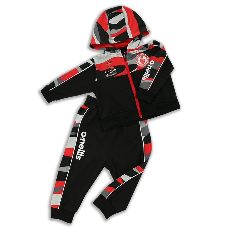 Tyrone GAA Kids' Bobby Brushed Infant Suit Black / Multi / Red