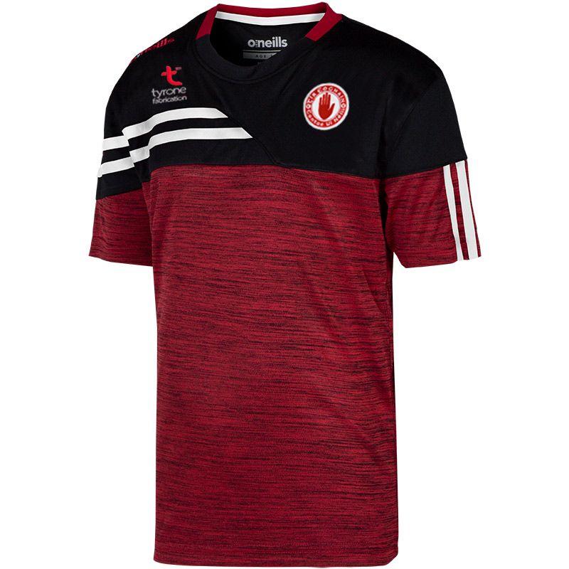 Tyrone GAA Kids' Nevis T-Shirt Red / Black / White