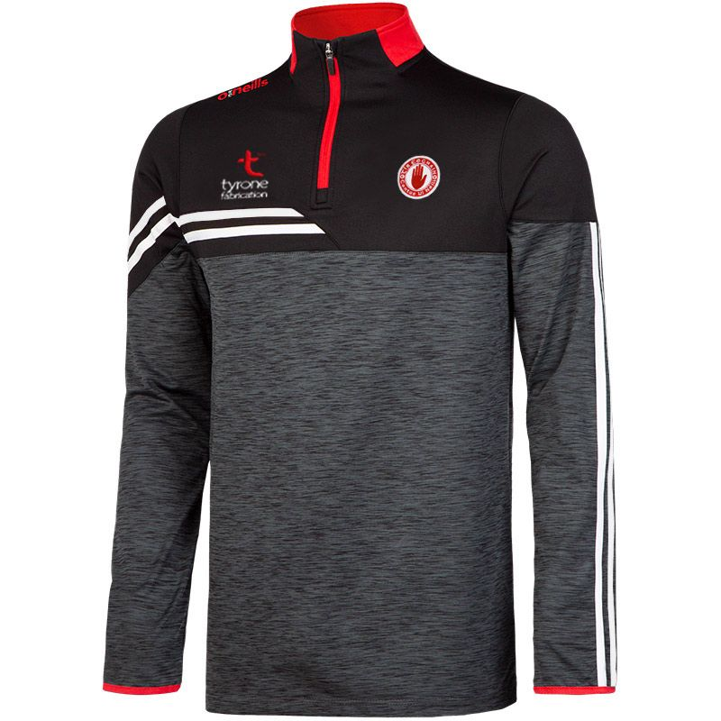 Tyrone GAA Men's Nevis Brushed Midlayer Half Zip Top Black / White