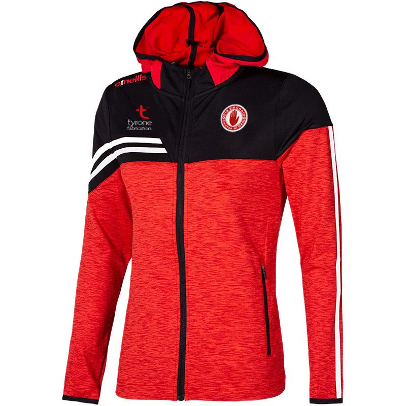 Tyrone GAA Women's Nevis  Brushed Full Zip Hoodie Red / Black / White