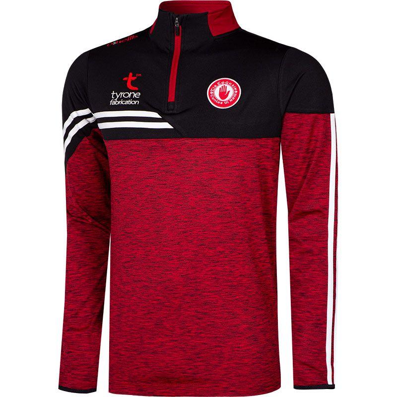 Tyrone GAA Men's Nevis Brushed Midlayer Half Zip Top Red / Black / White