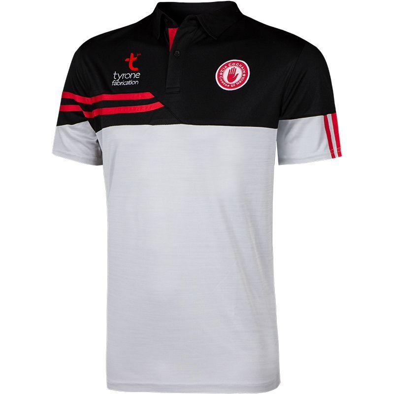 Tyrone GAA Men's Nevis Polo Shirt White / Black / Red