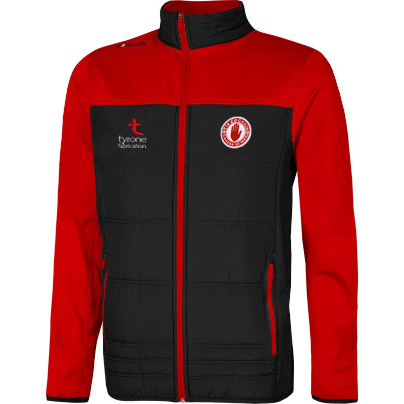 Tyrone GAA Men's Nevis Padded Jacket Black / Red