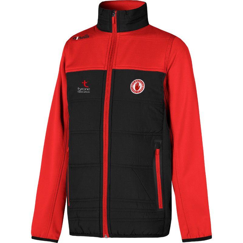 Tyrone GAA Kids' Nevis Padded Jacket Black / Red