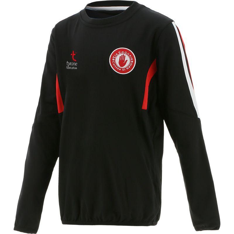 Tyrone GAA Kids' Raven Brushed Sweatshirt Black / White / Red