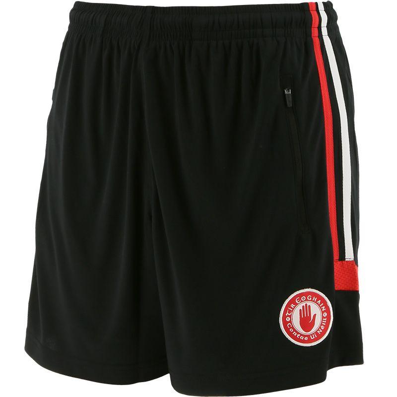 Tyrone GAA Kids' Raven Training Shorts Black / Red / White