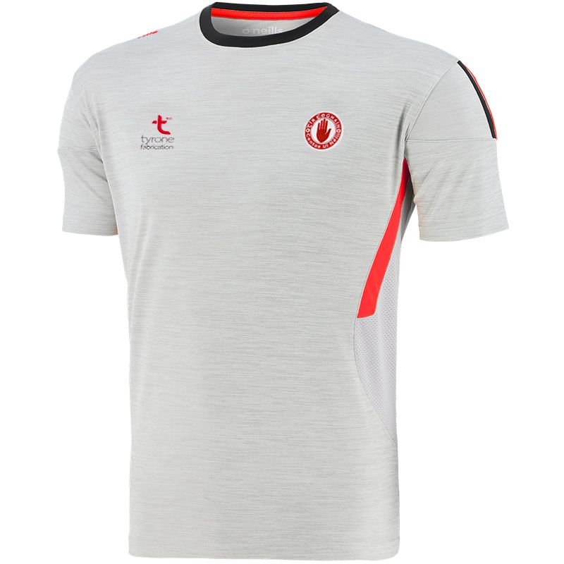 Tyrone GAA Men's Raven T-Shirt Silver / Red / Black