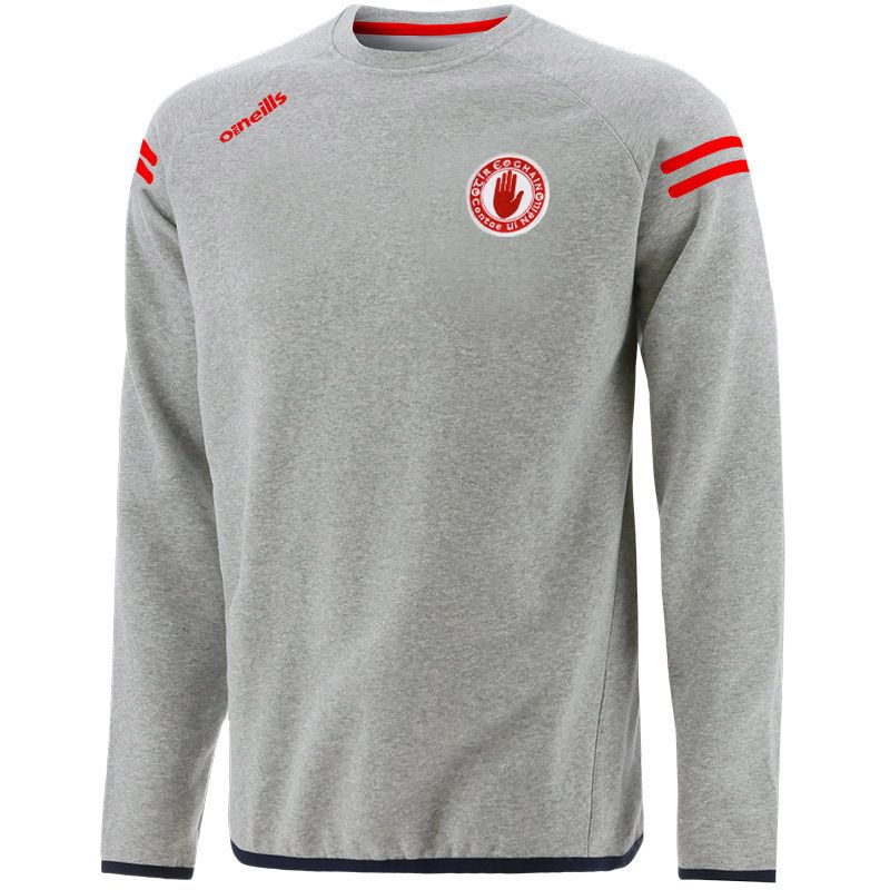Tyrone GAA Kids' Voyager Crew Neck Sweatshirt Grey / Black / Red