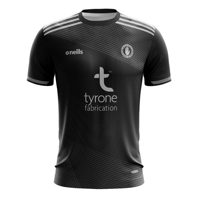 Tyrone GAA Player Fit Short Sleeve Training Top Black / Silver