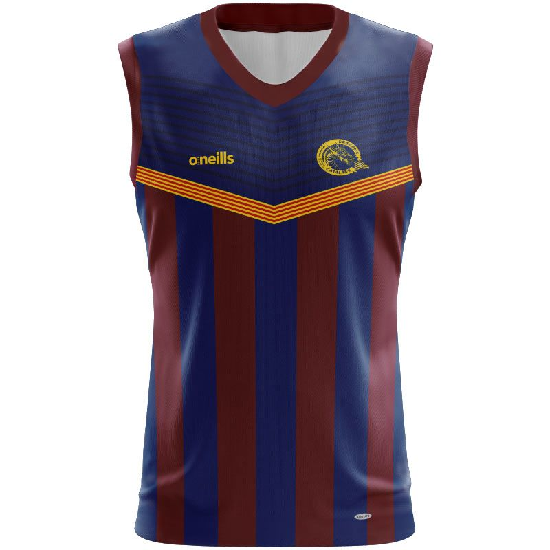 Catalans Dragons Rugby Vest Womens (Stripes)