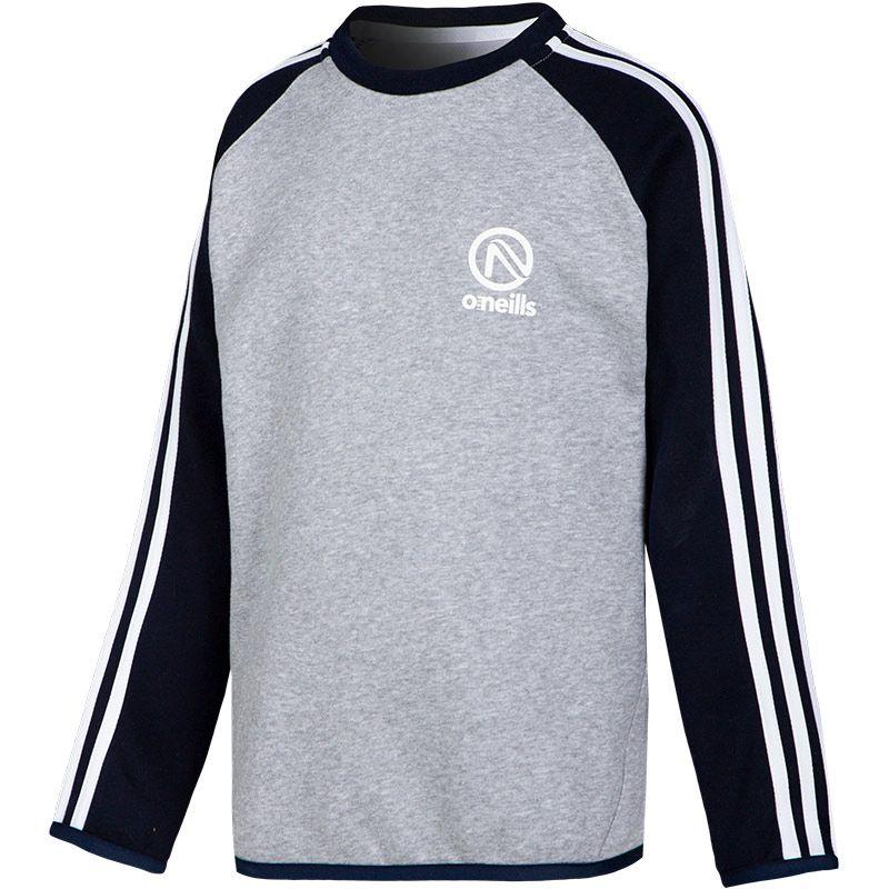Kids' Voyager Sweatshirt Grey / Marine / White