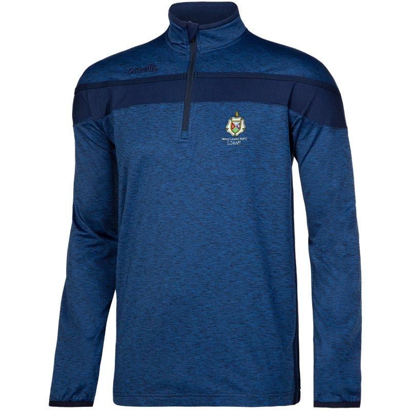 West Leeds Lions Junior Rugby Auckland Half Zip Brushed Top