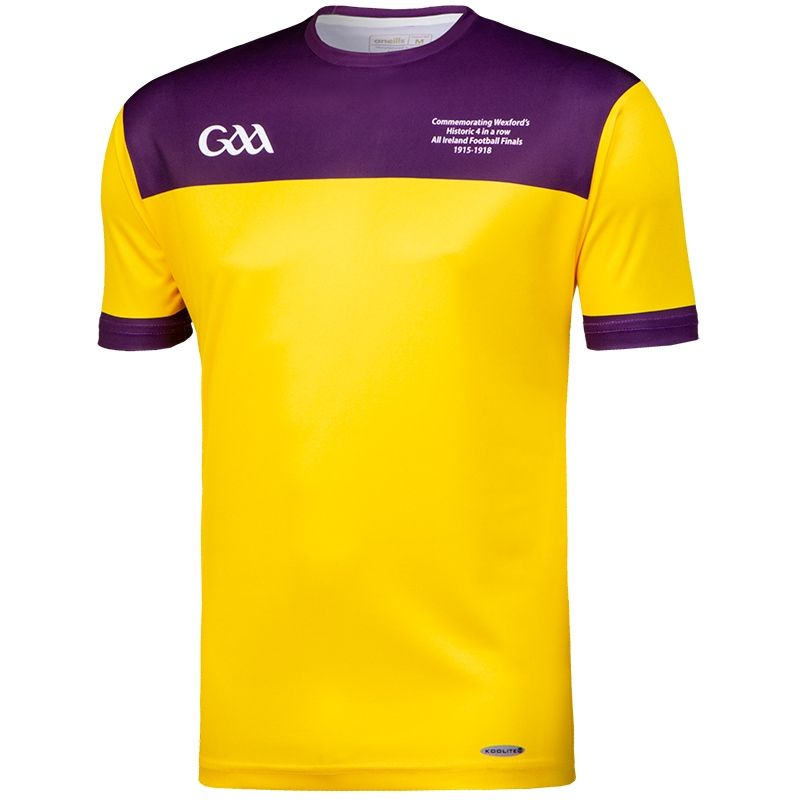 Wexford GAA Kids' Retro Jersey Yellow / Purple