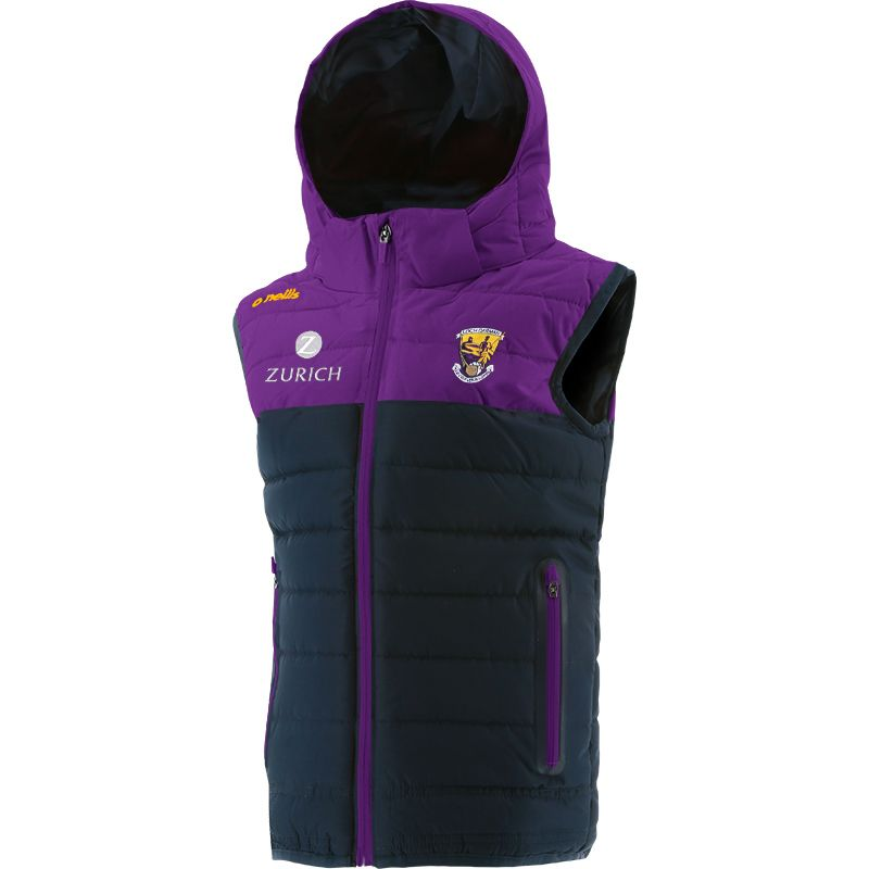 Wexford GAA Kids' Portland Hooded Gilet Marine / Purple
