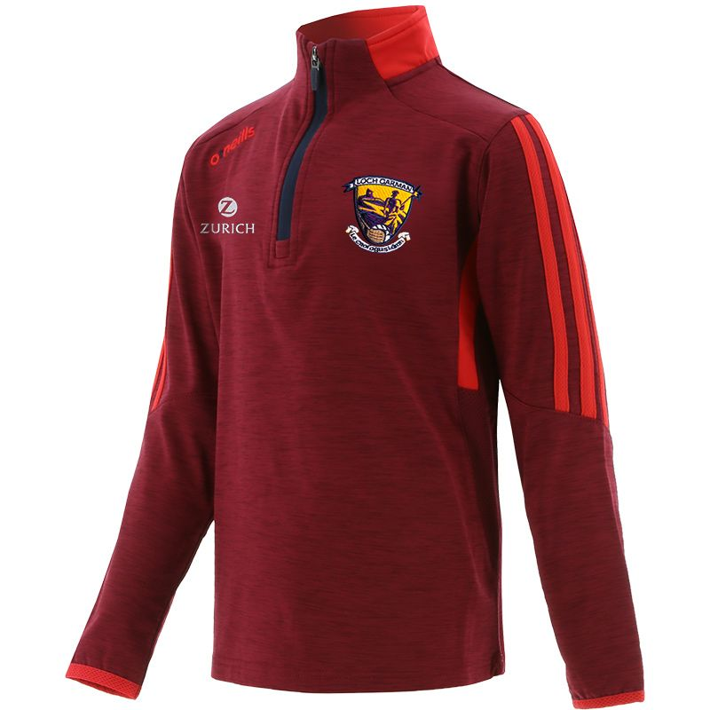 Wexford GAA Kids' Raven Brushed Half Zip Maroon / Red / Marine