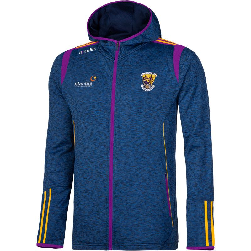 Wexford GAA Solar 2S Brushed Full-Zip Hooded Top (Mel Tonal Marine/Purple/Amber)