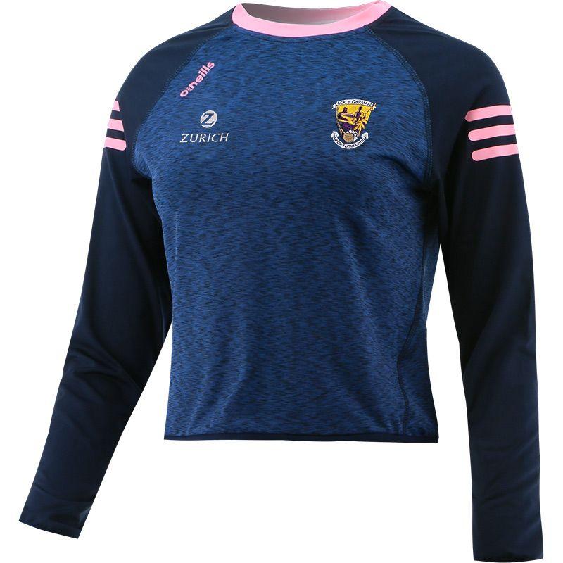 Wexford GAA Women's Voyager Cropped Sweatshirt Marine / Pink