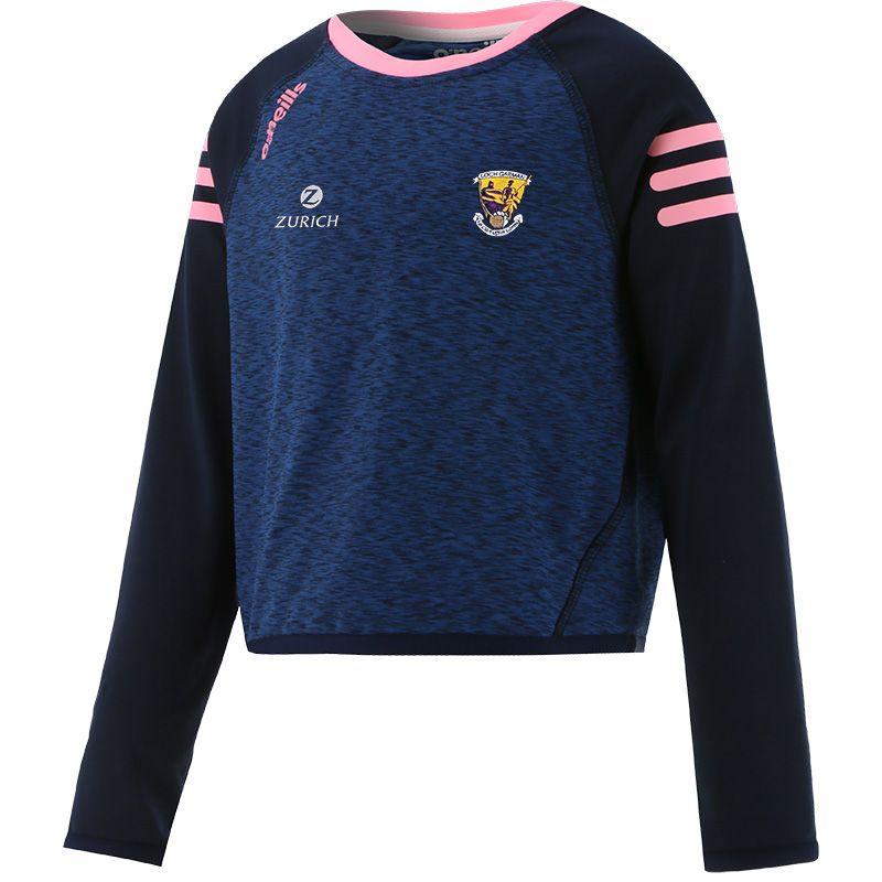 Wexford GAA Kids' Voyager Cropped Sweatshirt Marine / Pink