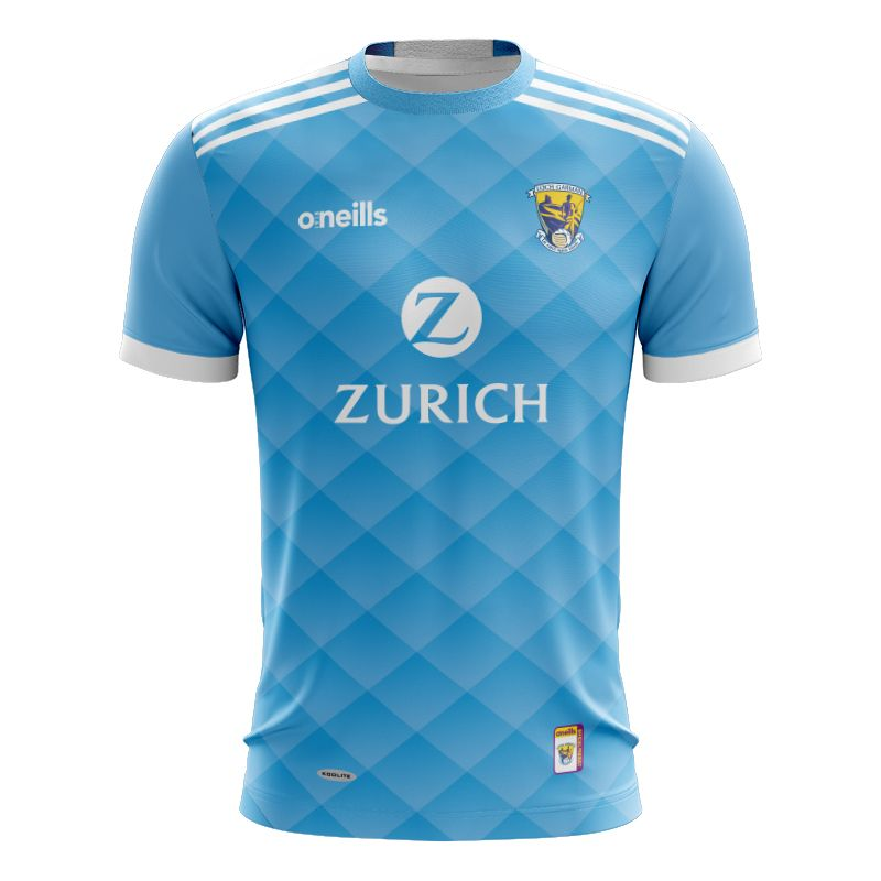 Wexford GAA Player Fit Short Sleeve Training Top Swedish Blue / White