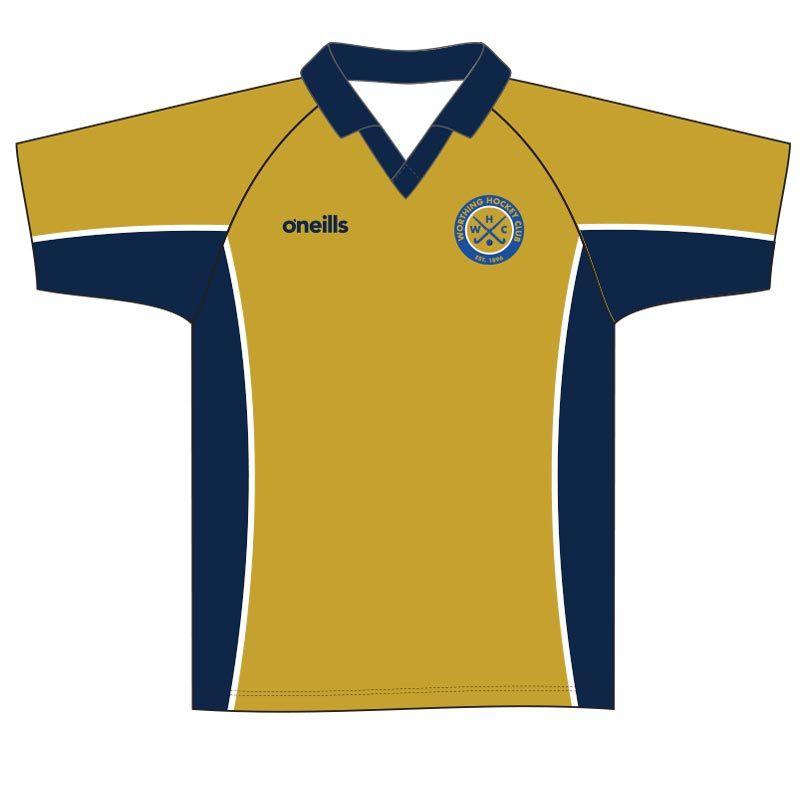 Worthing Hockey Club Mens Home Hockey Shirt (Gold)