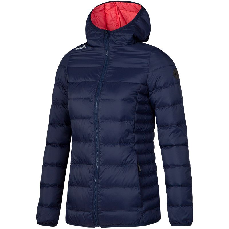 Women's Willoughby Down Filled Hooded Jacket Marine / Coral