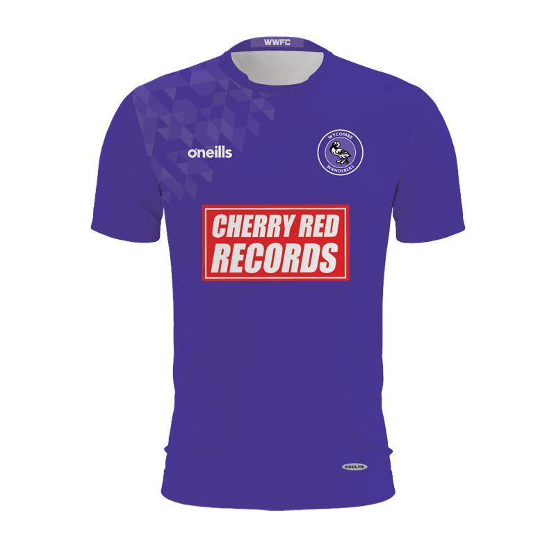 Wycombe Wanderers Kids' Purple Goalkeeper Shirt (Cherry Red Records)