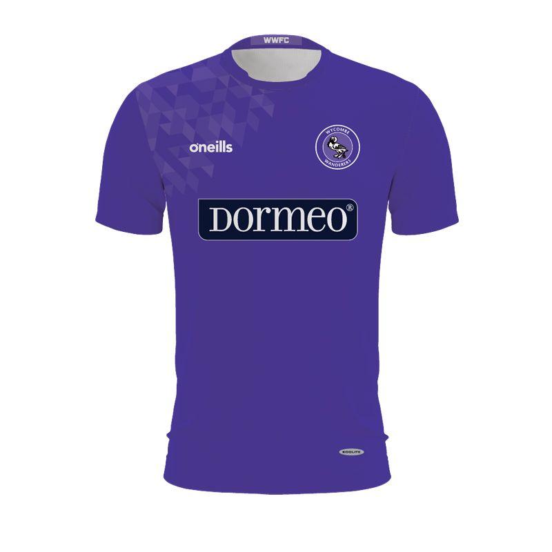 Wycombe Wanderers Kids' Purple Goalkeeper Shirt (Dormeo)
