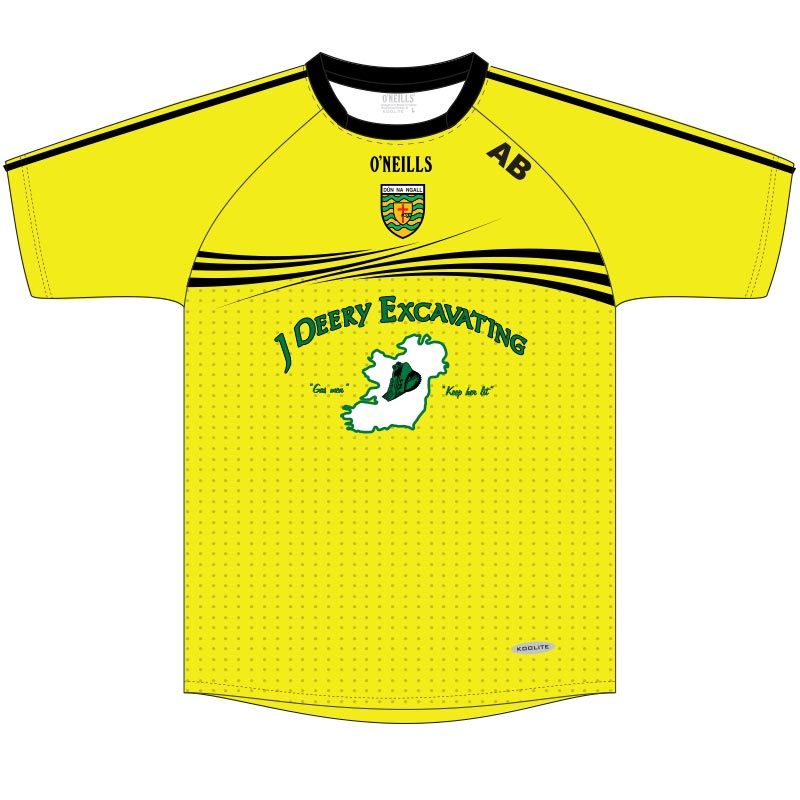 Donegal GFC Boston Flo Yellow Short Sleeve Training Top