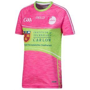 Carlow GAA Kids' Pink 2-Stripe Jersey