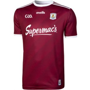 Galway GAA Player Fit Home Replica 2-Stripe Jersey