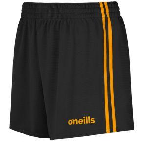 Kids' Mourne 2 Stripe Shorts Black / Amber