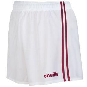 Mourne 2 Stripe Shorts White / Maroon
