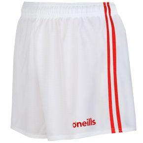 Kids' Mourne 2 Stripe Shorts White / Red